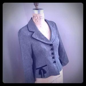 Vintage NANETTE LEPORE Black & White Tweed Jacket